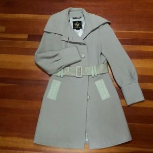 Gorgeous Light Gray Wool & Cashmere Coat